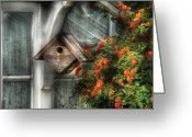 Greenhouse Greeting Cards - Summer - Birdhouse - The Birdhouse Greeting Card by Mike Savad