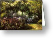 Heavenly Greeting Cards - Summer - Landscape - Eves Garden Greeting Card by Mike Savad