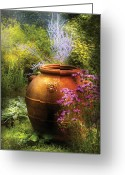 Funeral Greeting Cards - Summer - Landscape - The Urn Greeting Card by Mike Savad
