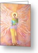 Guardian Angel Greeting Cards - Summer Angel Greeting Card by Marija Schwarz