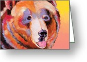 Abstract Realism Painting Greeting Cards - Summer Bear Greeting Card by Bob Coonts