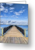 Blue Sky Greeting Cards - Summer Bliss Greeting Card by Tammy Wetzel