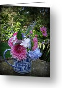 English Garden And House Greeting Cards - Summer Bouquet Greeting Card by Tanya  Searcy