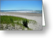 On The Beach Greeting Cards - Summer Breeze Greeting Card by Kamil Swiatek