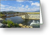 Cloudscape Photographs Greeting Cards - Summer by the River - Natural Beauty Greeting Card by Photography Moments - Sandi