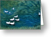 Lakes Pastels Greeting Cards - Summer Camp Greeting Card by Jan Amiss