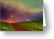 Rail Fence Greeting Cards - Summer Dustup Greeting Card by Gordon Beck