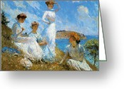Painters Greeting Cards - Summer Greeting Card by Frank Weston Benson