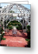 Gazebo Greeting Cards - Summer Gazebo of Franklin Park Conservatory Greeting Card by Mindy Newman