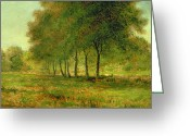 Inness Greeting Cards - Summer Greeting Card by George Snr Inness