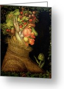 Zodiac Greeting Cards - Summer Greeting Card by Giuseppe Arcimboldo