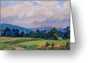 Thor Greeting Cards - Summer Haze Berkshires Greeting Card by Thor Wickstrom