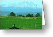 Alberta Foothills Landscape Greeting Cards - Summer Haze Greeting Card by Caron McBride