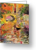 Canals Painting Greeting Cards - Summer Heat Greeting Card by Peter Graham