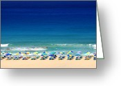 Azure Blue Greeting Cards - Summer holiday Greeting Card by Paul Cowan