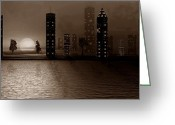 David Dehner Greeting Cards - Summer In The City - S Greeting Card by David Dehner