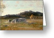 Luigi Greeting Cards - Summer Landscape Greeting Card by Luigi Loir