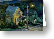 Western Massachusetts Greeting Cards - Summer Nocturne Greeting Card by Thor Wickstrom