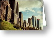 Picoftheday Greeting Cards - Summer on the UWS Greeting Card by Luke Kingma