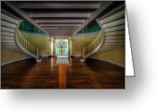 Staircase Greeting Cards - Summer Palace Greeting Card by Adrian Evans