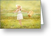 Idaho Artist Greeting Cards - Summer Picnic  Greeting Card by Cindy Singleton