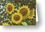 Realistic Greeting Cards - Summer Quintet Greeting Card by Marc Dmytryshyn