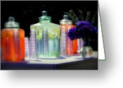 Summertime Drink Greeting Cards - Summer Refreshments Greeting Card by Cindy Wright