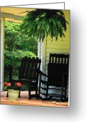 Rocking Chairs Greeting Cards - Summer Sitting Greeting Card by Joyce L Kimble