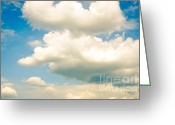 Shape Photo Greeting Cards - SUMMER SKY blue sky white clouds Greeting Card by Andy Smy