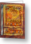 Shells Digital Art Greeting Cards - Summer Solstice Greeting Card by Ernestine Grindal