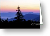 Solstice Greeting Cards - Summer Solstice Sunrise Highland Scenic Highway Greeting Card by Thomas R Fletcher