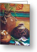 Copper Greeting Cards - Summer Still life Greeting Card by Candy Mayer