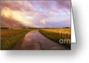 Award Greeting Cards - Summer Storm RAF Lavenham Greeting Card by Jan Faul