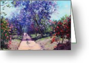 Size Greeting Cards - Summer Stroll Greeting Card by Graham Gercken
