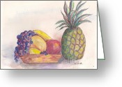 Papaya Greeting Cards - Summer sweets Greeting Card by Mary Lina