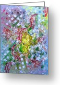 Representative Abstract Greeting Cards - Summer Symphony Greeting Card by David Raderstorf