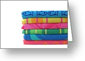 Beach Towel Photo Greeting Cards - Summer Time 2 Greeting Card by Jeannie Burleson