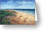 Beach Pastels Greeting Cards - Summer Vacation Greeting Card by Christine Kane