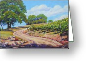 Country Lanes Painting Greeting Cards - Summer Walk Greeting Card by Margaret  Plumb
