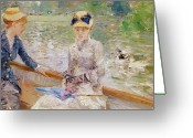 Shimmering Greeting Cards - Summers Day Greeting Card by Berthe Morisot