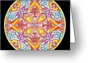 Mandalas Art Pastels Greeting Cards - Summers Delight Greeting Card by Marcia Lupo