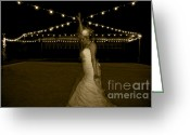 Dancing Pavilion Greeting Cards - Summers Eve Greeting Card by Gib Martinez