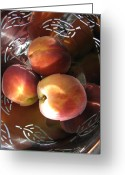 Peachy Greeting Cards - Summertime Fruit Greeting Card by Lindie Racz
