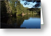 Clods Greeting Cards - Summit lake Orcas Island  Greeting Card by Jim Moore