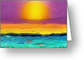 Karen Conine Greeting Cards - Sun Arising Greeting Card by Karen Conine