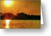 Summers Greeting Cards - Sun Burned Greeting Card by Jeff Kolker