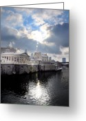 Philadelphia Museum Of Art Greeting Cards - Sun Burst Over the Fairmount Water Works Greeting Card by Bill Cannon