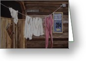 Western Clothing Greeting Cards - Sun Dried Greeting Card by Mary Rogers