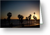 San Clemente Pier Greeting Cards - Sun Going Down In California Greeting Card by Ralf Kaiser