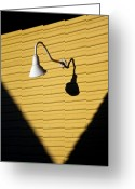 Yellow Photo Greeting Cards - Sun Lamp Greeting Card by David Bowman